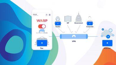WARP VPN لنظامي iOS و Android